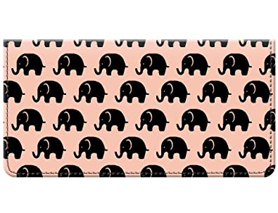 Snaptotes Trendy Boho Elephant Lover Design Checkbook Cover