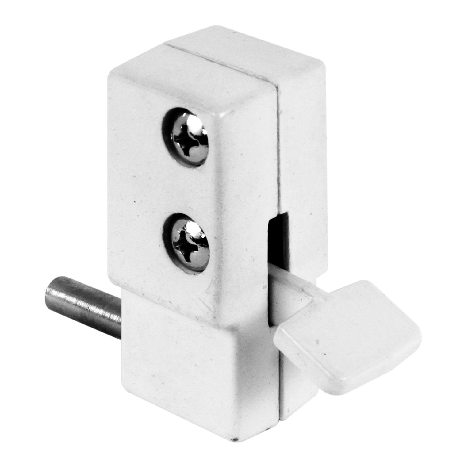 """Defender Security S 4355 Step on Sliding Door Lock with Diecast Housing and Hardened Steel Bolt, 5/8"""", White"""
