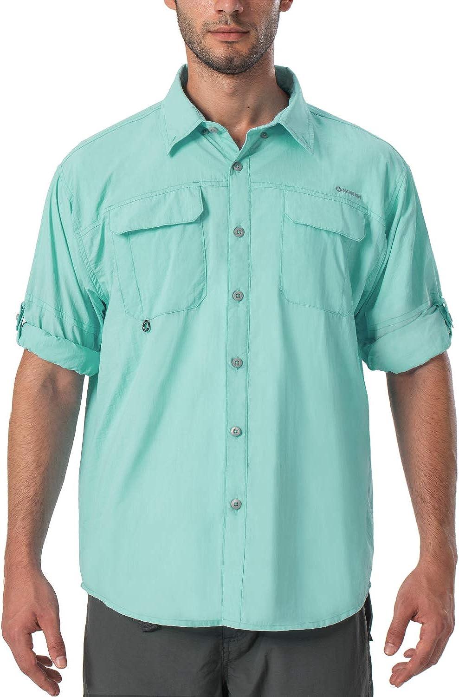 NAVISKIN Camisa Casual de Manga Larga Protecci/ón UV UPF 50 para Hombre Camiseta Deporte T/érmica Ligero Secado R/ápido