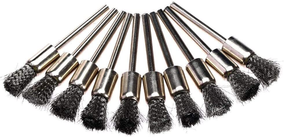 10Pcs 3mm Stainless Steel Drill Wire Brushes Buffing Polisher Brushes Rotary Tools Abrasive Tools Accessories