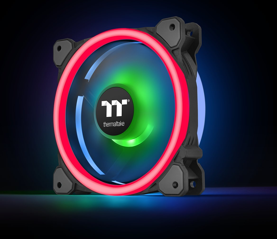 Thermaltake Riing Trio 12 RGB TT Premium Edition 120mm Software Enabled 30 Addressable LED 9 Blades Case/Radiator Fan - 3 Pack - CL-F072-PL12SW-A by Thermaltake (Image #11)