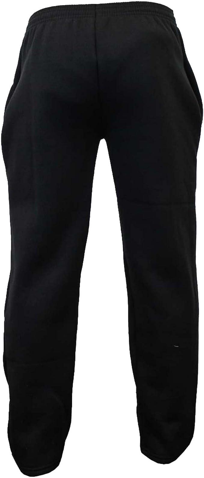 N//A Boys Bottoms Kids PE School Pants Tracksuit Fleece Lined Trousers Sports Casual