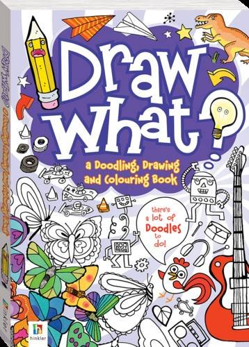 draw what a doodling drawing and colouring book 9781743520734 amazoncom books - Drawing Books For Boys