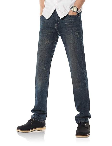 Pantaloni da Uomo Jeans A Taglio Dritto Serie Unico Uomo da