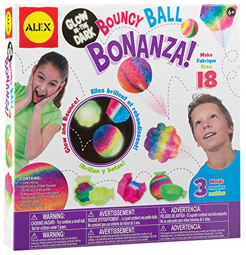 ALEX Toys Craft Glow In The Dark Bouncy Ball (Rubber Ball Kit)