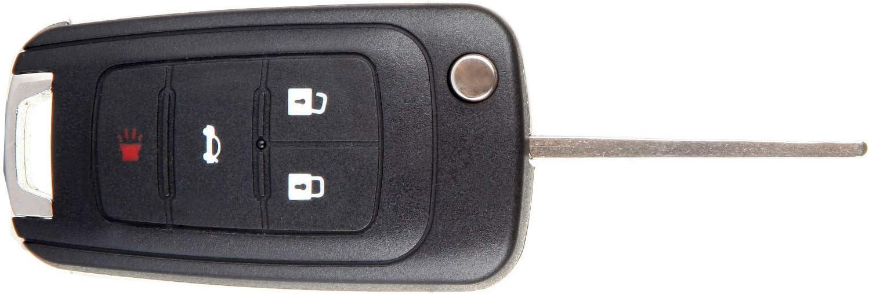 ANPART 1 X Remote Key Fob Uncut Ignition Key Compatible for 10 11 12 13 14 15 16 CHEVROLET Camaro Cruze Equinox Malibu FCC OHT01060512