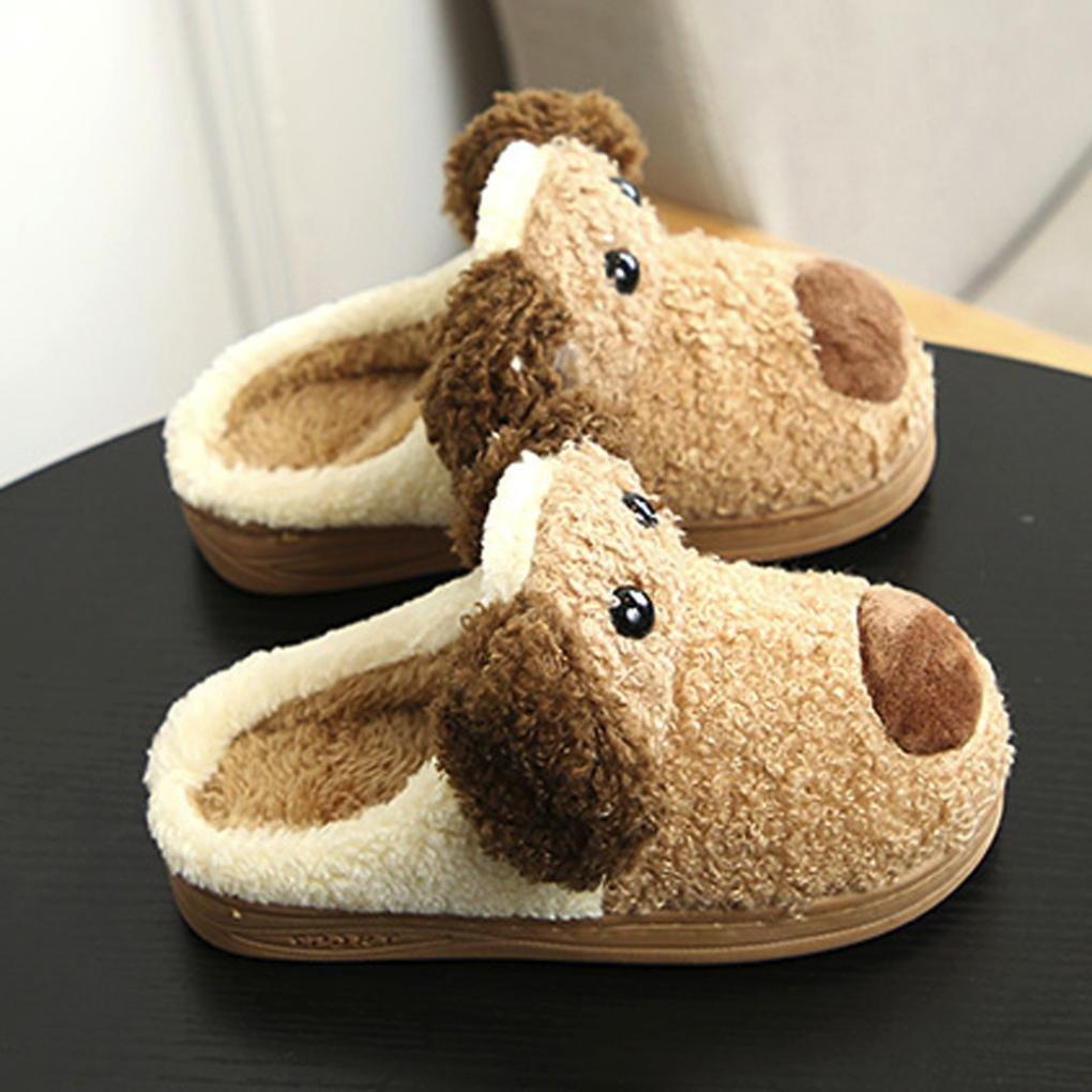 Voberry Toddler Kids Baby Girls Boys Lovely Plush Soft Slippers Non-Slip Warm Velvet Snow Shoes