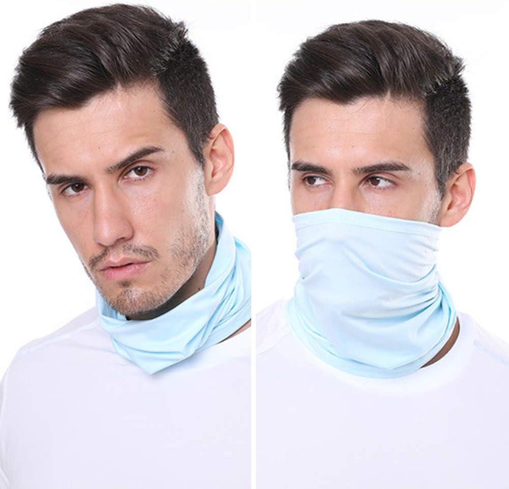 ANLUQIRIYON Sombreros Deportivos multifuncionales para Exteriores, protección UV Transpirable Protector Facial Diadema elástica Babero Corbatas Muñequera Ciclismo Calentador Facial
