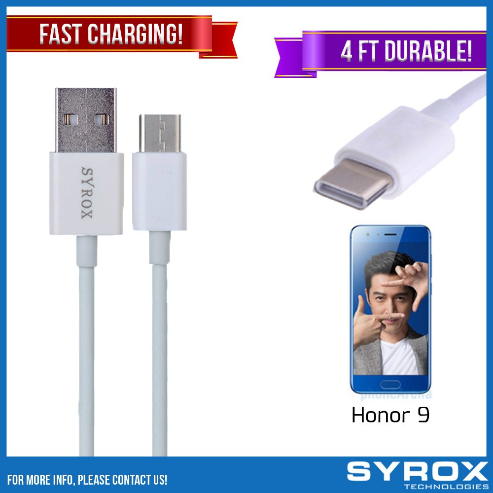 Syrox 50-Pack USB Type-C Cable, Reversible 4 ft Ultra Durable Fast Charging for Honor 9, Samsung Galaxy Note 8, S8 Plus, LG V30, V20, G6, G5, Google Pixel, 6P, Nintendo Switch and All