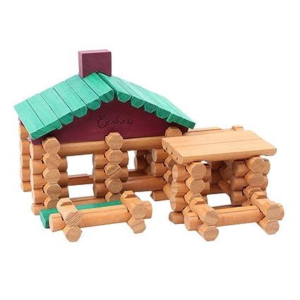 Happy Cherry Niños Niñas Set/Juguetes de 90 Piezas Madera Juegos de Bloques de Construcción