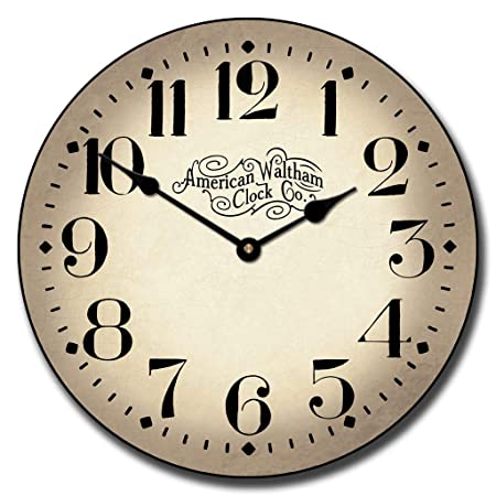 Houston Parchment Wall Clock, Available in 8 Sizes, Most Sizes Ship The Next Business Day, Whisper Quiet.