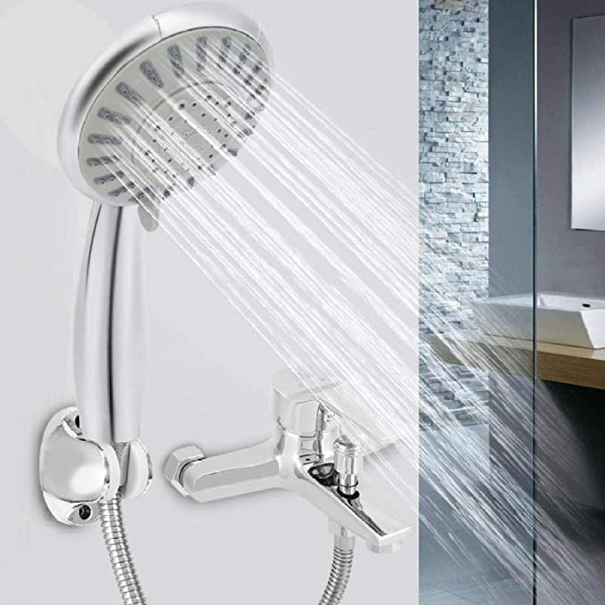 KangHS Alcachofa, Baño 5 Funciones Cabezal de ducha de mano Cabezal de ducha y manguera de ahorro de agua Ducha y manguera: Amazon.es: Bricolaje y herramientas