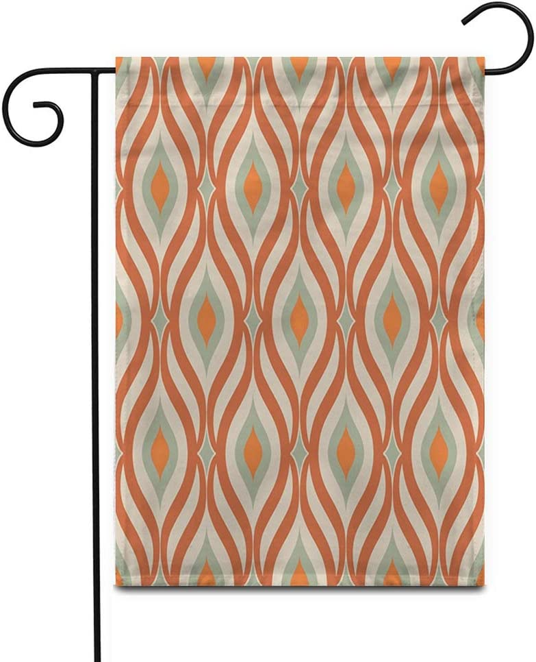 """Awowee 28""""x40"""" Garden Flag Retro from The 50S and 60S Abstract Vintage Outdoor Home Decor Double Sided Yard Flags Banner for Patio Lawn"""