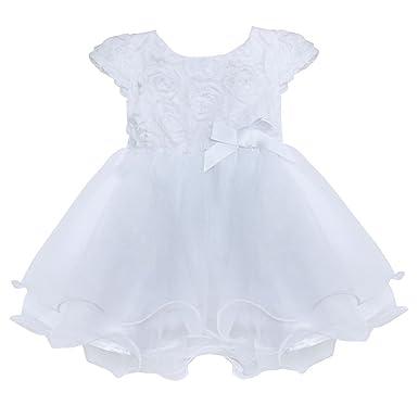 Freebily Baby Mädchen Kleid Blumen Taufkleid Prinzessin Festzug ...