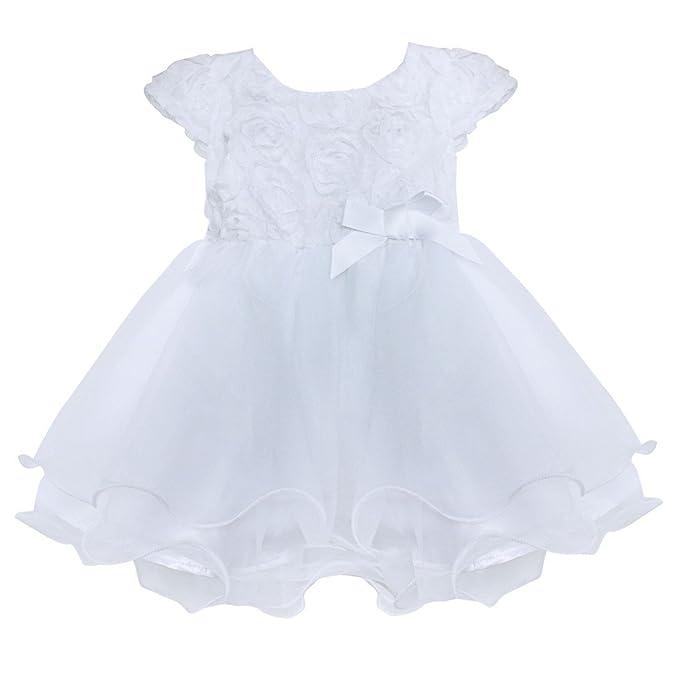Freebily Vestido de Flores Bautizo Fiesta Boda para Bebé Niña Recién Nacido (0-24