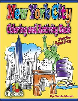 New York City Coloring And Activity Book Books Carole Marsh 0710430023028 Amazon