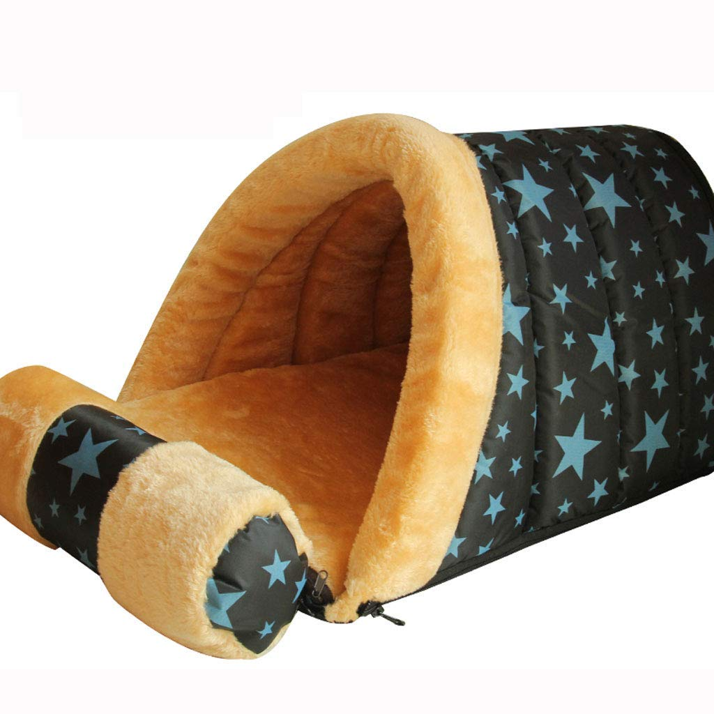blue S 58 35 33cmTayaho Dog Hound, Small Dog, Teddy Bomei, Winter, Warm, Nest, Dog Hedgehog, Cat Litter In House, Dog Hedgehog, Detachable, Dog Pillow, Comfortable, Durable (bluee, White S L)