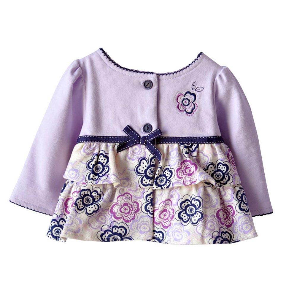 E-SHINE CO Baby Girls' Cardigan Jacket Bowknot Flowers CNPKC221