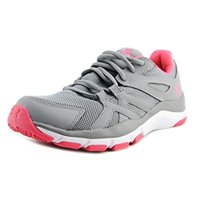 77a7bc1fc654 Under Armour Women s Ua Strive 6 Training Shoes Steel White Pink Chroma 6  B(M) US  Buy Online at Low Prices in India - Amazon.in