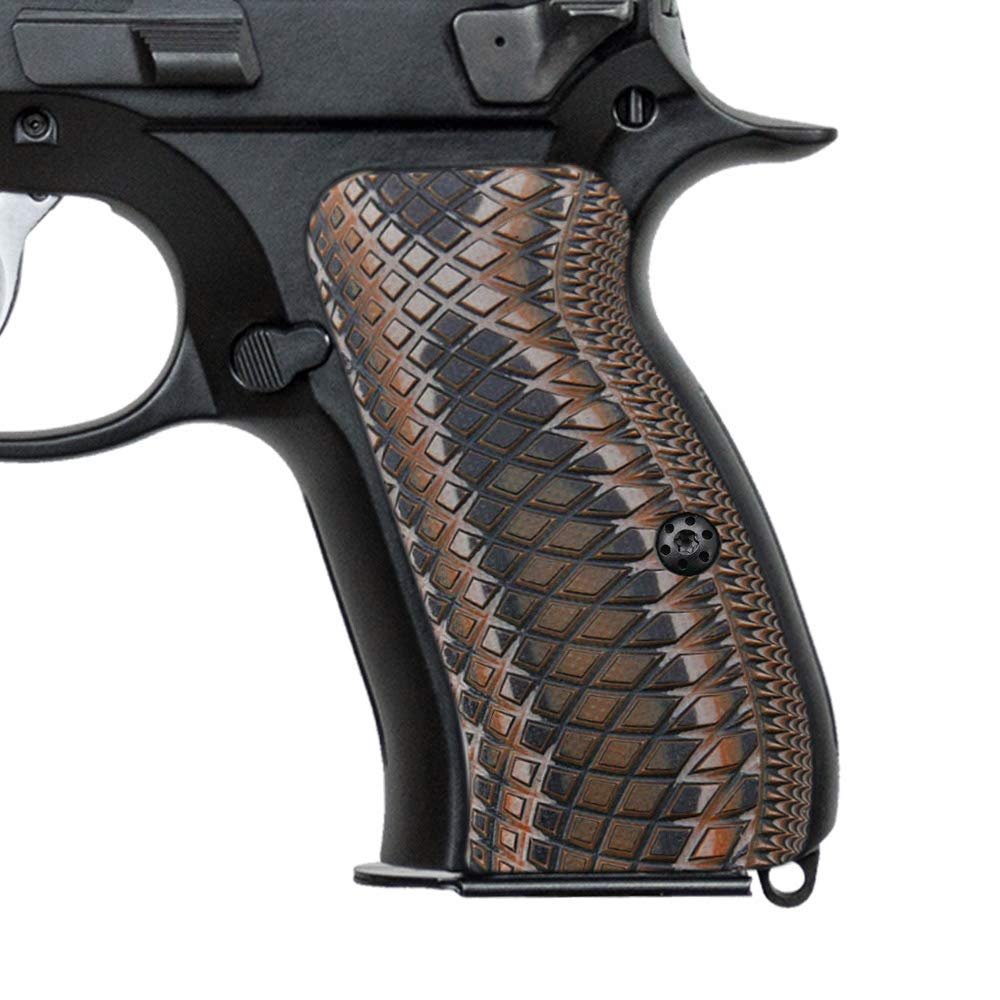 Cool Hand G10 Grips for CZ 75 Compact, Snake Scale Texture, Brand Coyote Color by Cool Hand