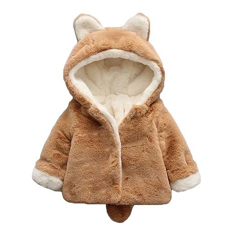 Niña niño Manto de algodón Abrigo con capucha capa Trenchcoat para niños Abrigos de conejo chaqueta