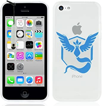 Apple iPhone 5C Étui HCN PHONE® Coque silicone TPU Transparente Ultra-Fine Dessin animé jolie pour Apple iPhone 5C mini stylet - Team Mystic