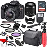 Canon EOS Rebel T6 DSLR Camera with Canon EF-S 18-55mm is II Lens, Sandisk 32GB SDHC Memory (25pc Bundle)