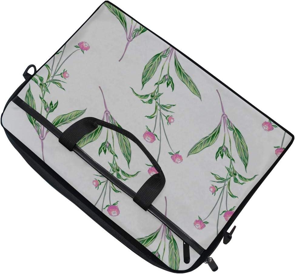 Briefcase Messenger Shoulder Bag for Men Women Laptop Bag Flowers Pattern 15-15.4 Inch Laptop Case College Students Business People Office Workers
