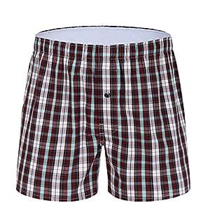 M MOACC Men's Woven Boxers Underwear 100% Cotton Premium Quality Shorts