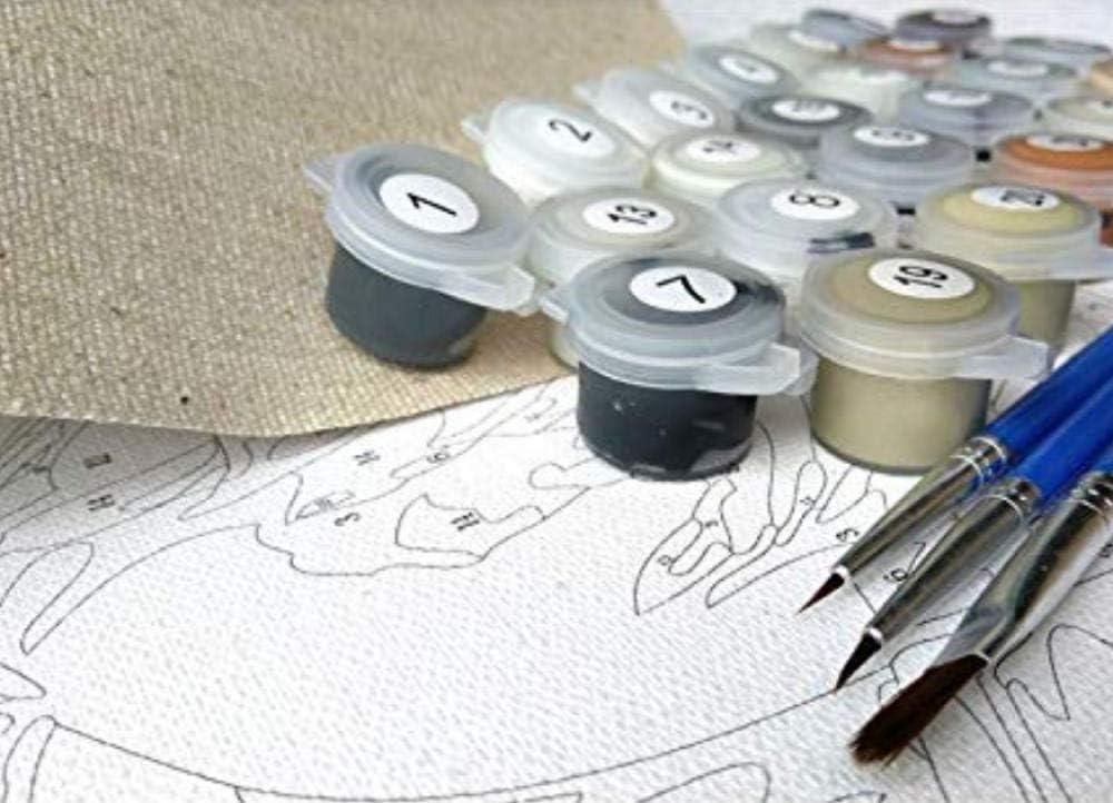 Mobili Decorativi Senza Cornice 90X120Cm Fiore Bianco Primavera OKOUNOKO Pittura Ad Olio per Numeri Pittura su Tela Kits Grande Gioco di Puzzle
