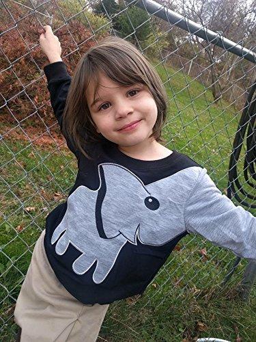 LitBud Little Boys Jumpers Kids Elephant Sweaters Sweatshirt Pullover Casual Shirt Tops