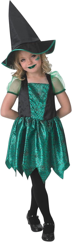 Disfraz Child Green Spider Witch Costume