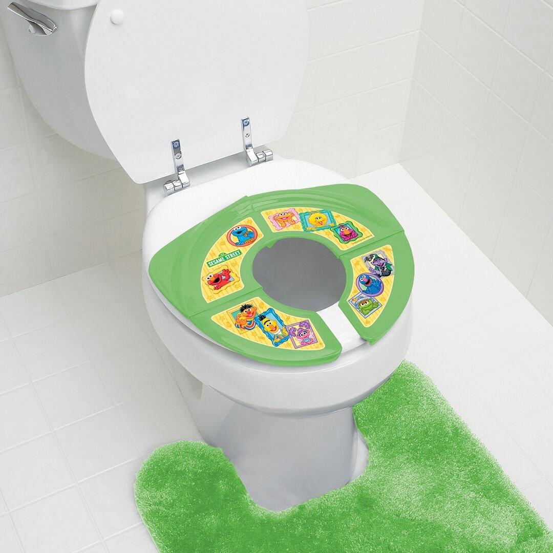 Amazon.com : Sesame Street Framed Friends Travel/Folding Potty Seat ...