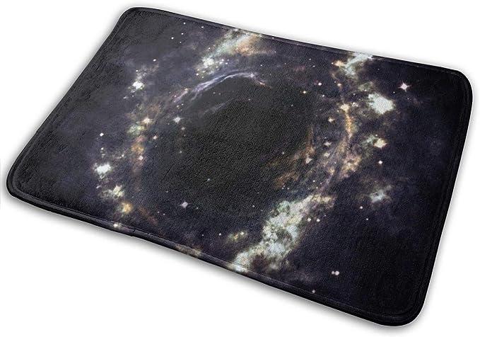 Image of BLSYP Galaxy Universe Stars Cluster Brillo Puerta Alfombrilla Alfombrilla Alfombrilla de Entrada Antideslizante Alfombra Silla de Piso Alfombra de Interior Alfombra de Exterior Alfombra de Bienvenida