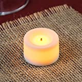 Sterno Products 60170 3/4'' White Flameless Real Wax Mini Votive - 50/Case