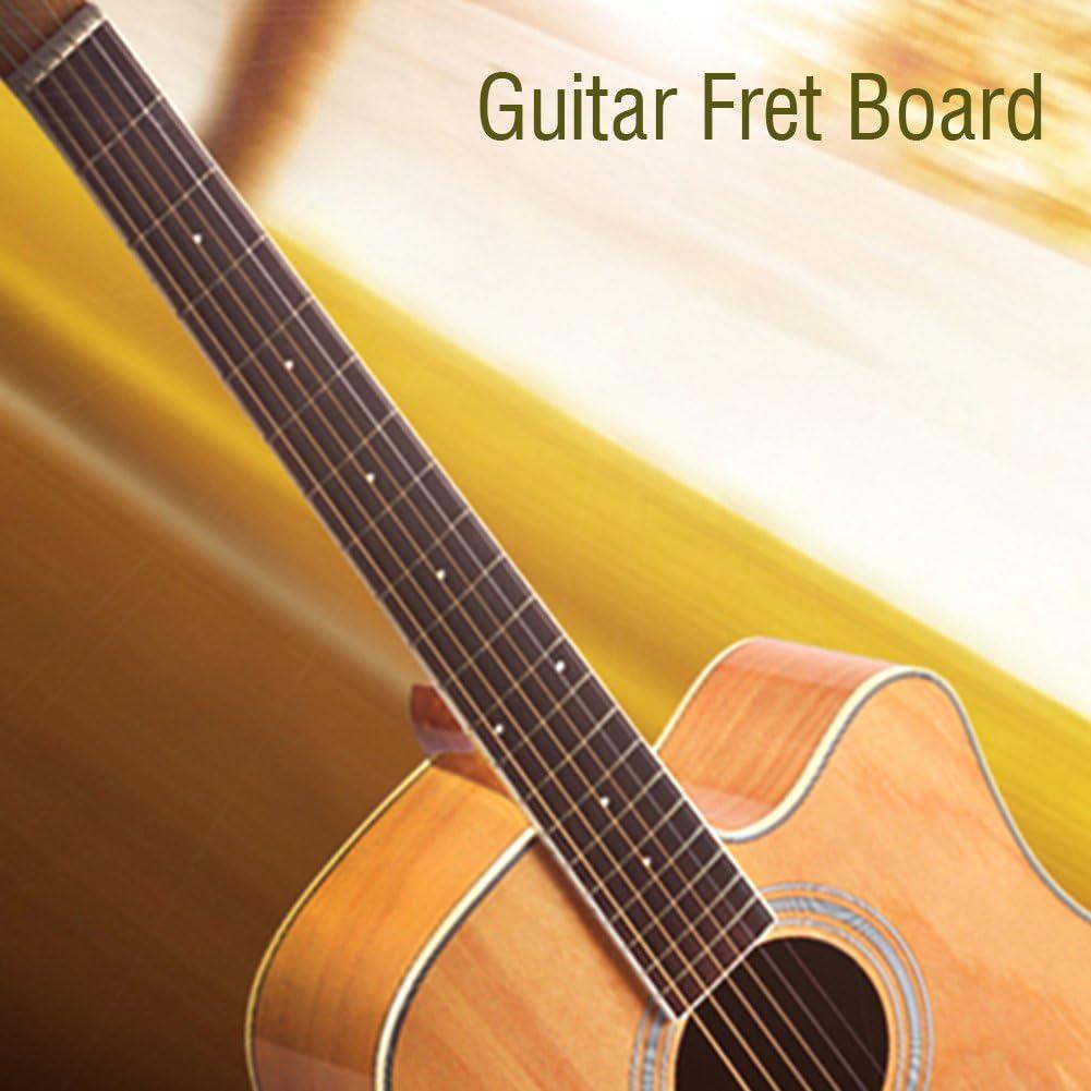 Diapasón de Guitarra, Reemplazo de Cuello de Guitarra de Palo de Rosa Diapasón de Palisandro Diapasón Repuestos para 41 Pulgadas 20 Trastes Guitarra Acústica Instrumento Accesorios