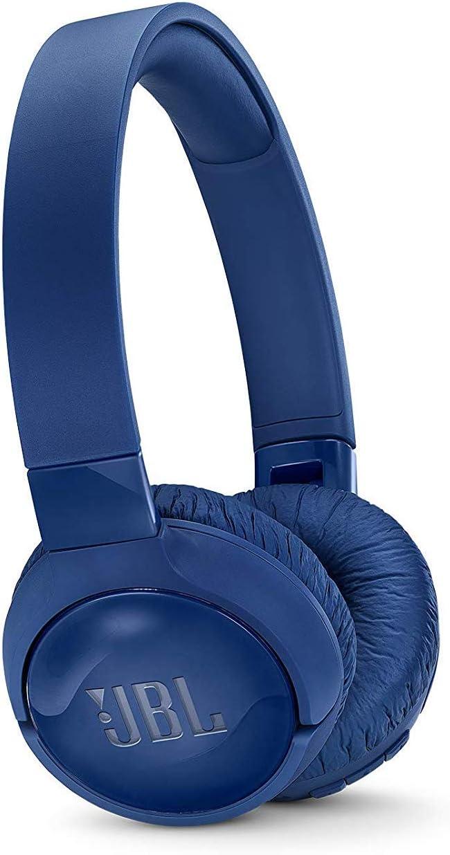 JBL Tune 600BT - Auriculares supraaurales inalámbricos con cancelación de ruido activa, batería de hasta 12 horas con BT y NC activo, azul