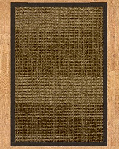 (NaturalAreaRugs St. Tropez Sisal Area Rug, Handmade in USA, 100% Natural Sisal, Non-Slip Latex Backing, Durable, (6 Feet x 9 Feet) Fudge Border + Bonus Rug Pad)