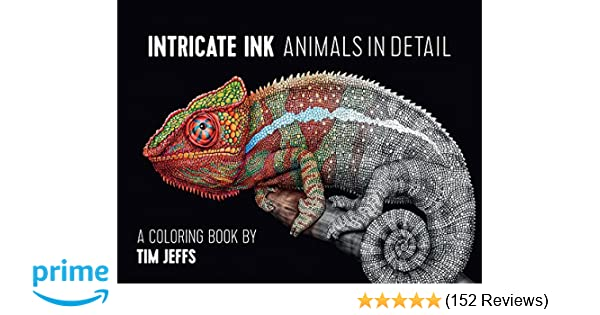 Amazon Intricate Ink Animals In Detail Coloring Book 9780764974694 Tim Jeffs Books