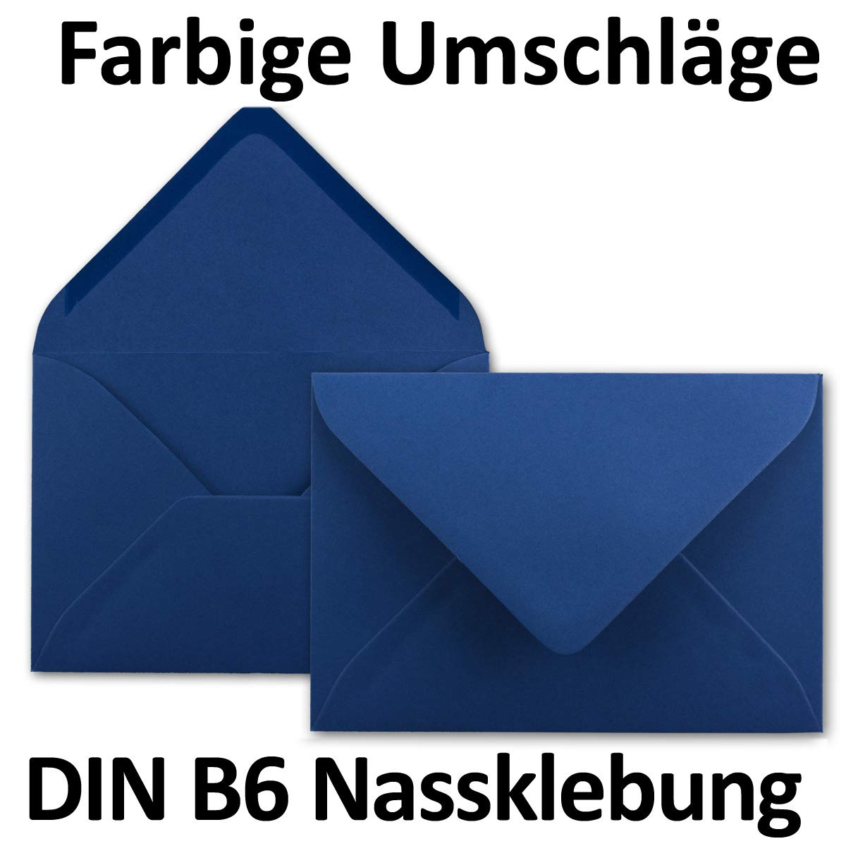 Neuser formato B6 dimensioni/175 x 125/mm chiusura adesiva da inumidire 50 Umschl/äge giallo miele Buste da lettere da 80 g//m/² in colori vivaci