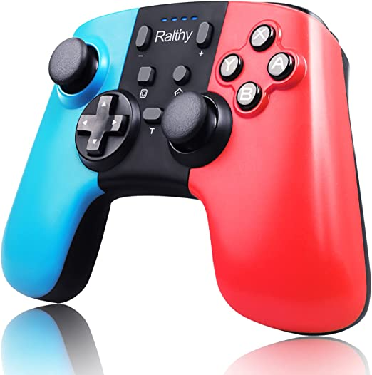 Ralthy Wireless Pro Controller for Switch, Extra Controller Gamepad Joystick for Switch Controllers, Supports Gyro Axis, Turbo and Dual Vibration