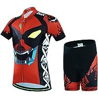 Wulide Niños–Rueda equipación de Bicicleta Camiseta Manga Corta