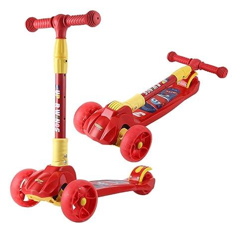 KOBOOW Mini Patinete Plegable para niños de 3 Ruedas para ...