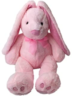 Blue Big Teddy Bear, Hug Fun Plush Dark Brown Lop Ear Bunny Rabbit 13 In Stuffed Animal Pal