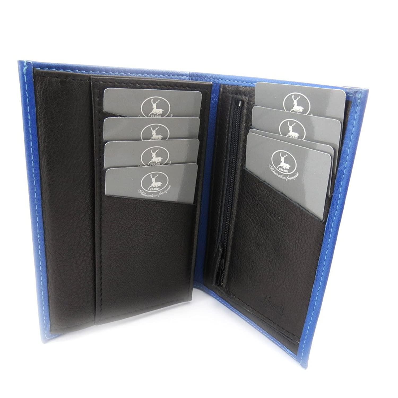 """Wallet leather """"Frandi"""" blue black."""