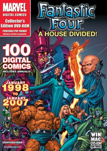 Price comparison product image Marvel Comics - Fantastic Four: A House Divided - Over 100 Digital Comics from January 1998 to January 2007 on DVD-ROM in Acrobat PDF Format (Mac & Windows)