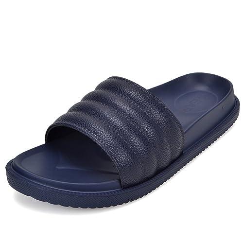 Mens Sandals Navy Blue Adjustable Slides Euro Size 43