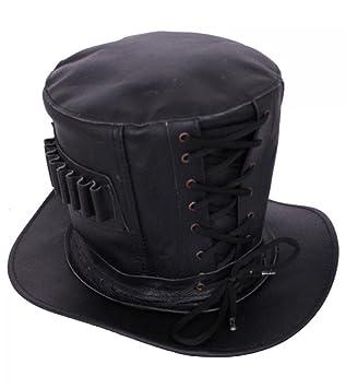 Dark Dreams Gothic Steampunk Western Wild West Leder Zylinder Hut