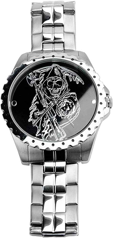 Official Sons Of Anarchy Wristwatch - SAMCRO Grim Reaper Logo