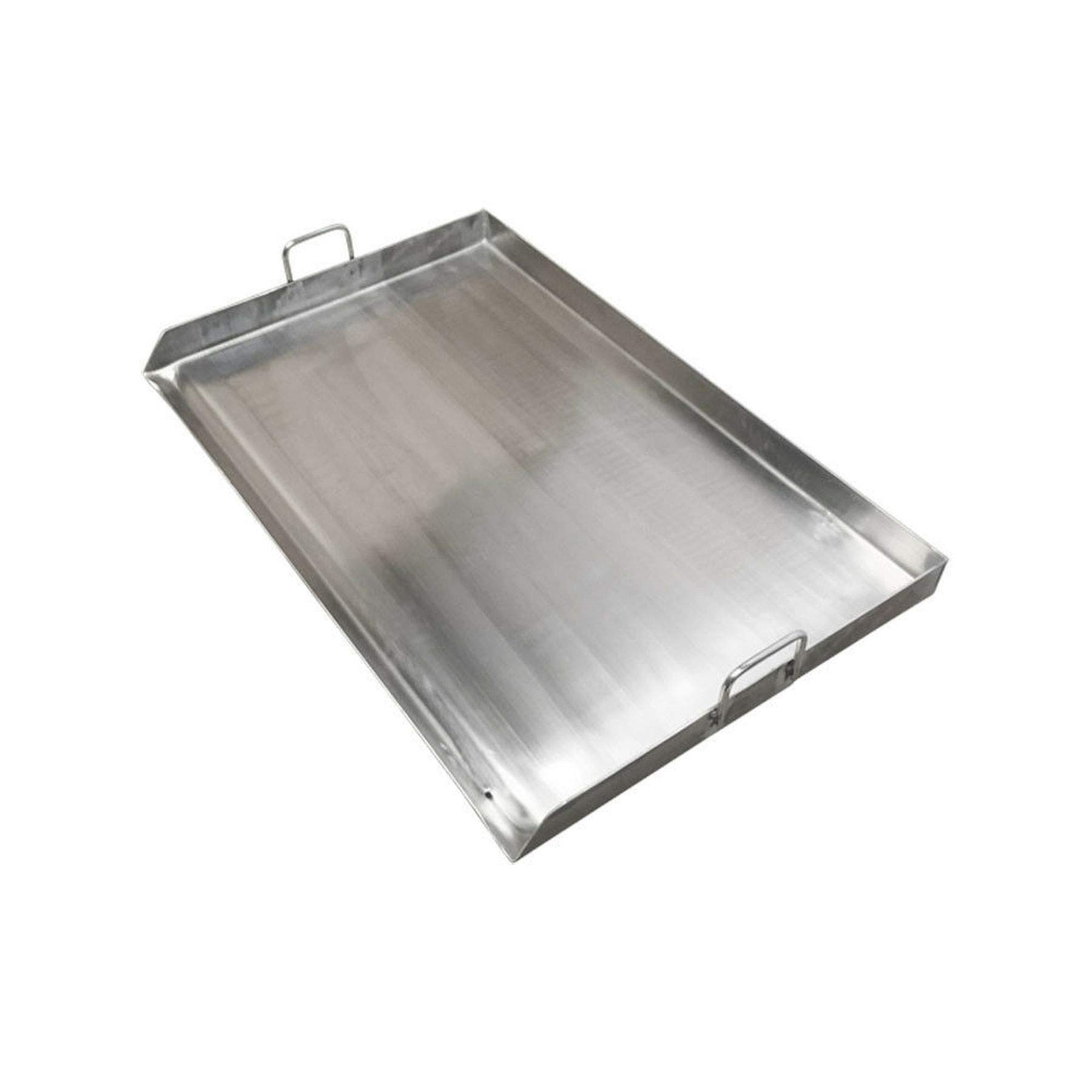 vivaBKK Heavy Duty Stainless Steel Flat Top Griddle Grill Plancha for Double Burner 32 x 17 x 2.5 inches by vivaBKK